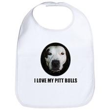 I LOVE MY PITT BULLS Bib