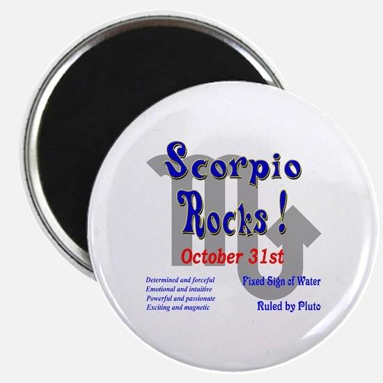 Scorpio October 31st Magnet