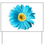 Pop Art Blue Daisy Yard Sign
