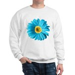 Pop Art Blue Daisy Sweatshirt