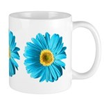 Pop Art Blue Daisy Mug