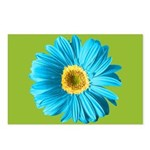 Pop Art Blue Daisy Postcards (Package of 8)