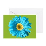 Pop Art Blue Daisy Greeting Cards (Pk of 10)