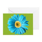 Pop Art Blue Daisy Greeting Card