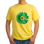 Pop Art Blue Daisy Yellow T-Shirt
