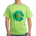 Pop Art Blue Daisy Green T-Shirt