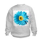 Pop Art Blue Daisy Kids Sweatshirt