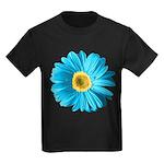 Pop Art Blue Daisy Kids Dark T-Shirt