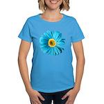 Pop Art Blue Daisy Women's Dark T-Shirt