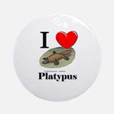 I Love Platypus Ornament (Round)