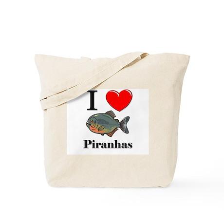 I Love Piranhas Tote Bag
