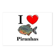 I Love Piranhas Postcards (Package of 8)