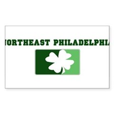 NORTHEAST PHILADELPHIA Irish Rectangle Decal