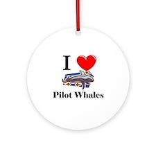 I Love Pilot Whales Ornament (Round)