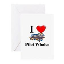I Love Pilot Whales Greeting Cards (Pk of 10)