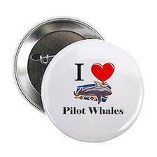 """I Love Pilot Whales 2.25"""" Button"""