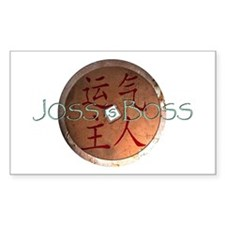 Joss is Boss I-Ching Rectangle Decal