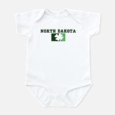 NORTH DAKOTA Irish (green) Infant Bodysuit