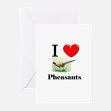 I Love Pheasants Greeting Cards (Pk of 10)
