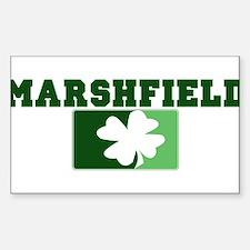MARSHFIELD Irish (green) Rectangle Bumper Stickers