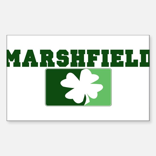 MARSHFIELD Irish (green) Rectangle Decal