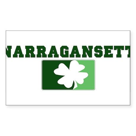 NARRAGANSETT Irish (green) Rectangle Sticker