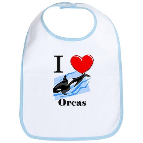 I Love Orcas Bib