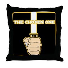 The Chosen One-Orange Throw Pillow