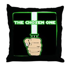 The Chosen One-Green Throw Pillow