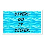 Divers Do It Deeper Rectangle Sticker