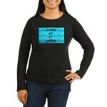 Divers Do It Deeper Women's Long Sleeve Dark T-Shi
