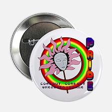 PRIDE Circle of Rainbows Button