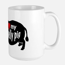 pot belly pig Large Mug