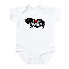 pot belly pig Infant Bodysuit