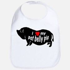 pot belly pig Bib
