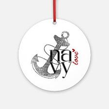Navy Love Ornament (Round)