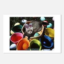 Easter Ferret Postcards (Package of 8)