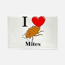 I Love Mites Rectangle Magnet