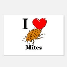 I Love Mites Postcards (Package of 8)