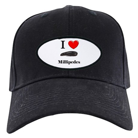 I Love Millipedes Black Cap