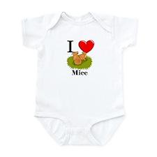 I Love Mice Infant Bodysuit