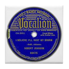 Vocalion Label, Dust My Broom Tile Coaster