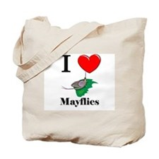 I Love Mayflies Tote Bag