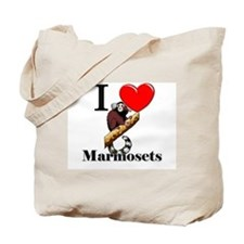 I Love Marmosets Tote Bag