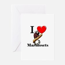 I Love Marmosets Greeting Cards (Pk of 10)