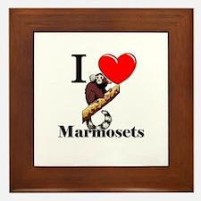 I Love Marmosets Framed Tile