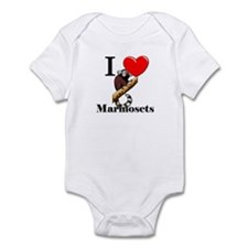 I Love Marmosets Infant Bodysuit