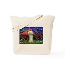 Mt Fuji / Bearded Collie Tote Bag