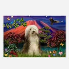 Mt Fuji / Bearded Collie Postcards (Package of 8)