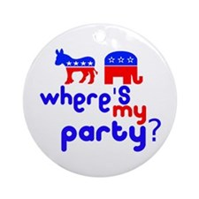 Where's My Party? Ornament (Round)